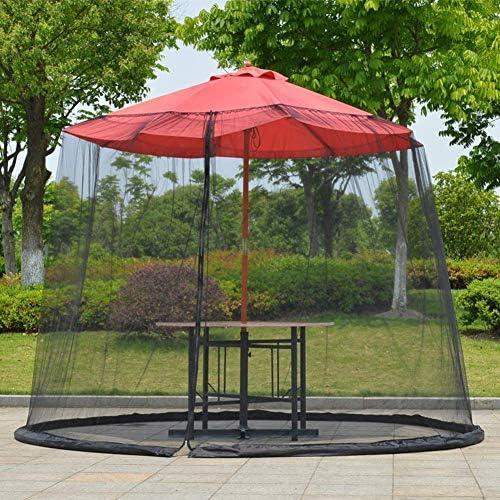 パラソルの蚊帳、屋外の庭の傘のテーブルスクリーンの傘カバー蚊帳の屋外庭の傘のテーブルの画面のパラソル蚊帳のカバーパティオデッキのメッシュエンクロージャカバー