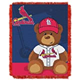 MLB St. Louis Cardinals Field Woven Jacquard Baby Throw Blanket, 36x46-Inch