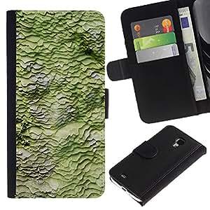 WINCASE ( No Para S4 i9500 ) Cuadro Funda Voltear Cuero Ranura Tarjetas TPU Carcasas Protectora Cover Case Para Samsung Galaxy S4 Mini i9190 - la naturaleza de primavera patrón abstracto