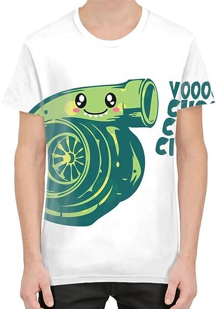 What Does The Turbo Say? Camiseta sublimada Large: Amazon.es: Ropa y accesorios