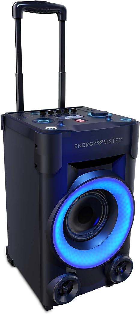 Energy Sistem Party 3 Go Altavoz portátil con Ruedas Bluetooth, USB y micrófono (40 W, Luces de Fiesta, Radio FM, Botón de Potencia 100W): Energy- Sistem: Amazon.es: Electrónica