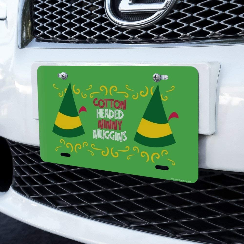 Graphics and More Elf Cotton Headed Ninny Muggins Novelty Metal Vanity Tag License Plate