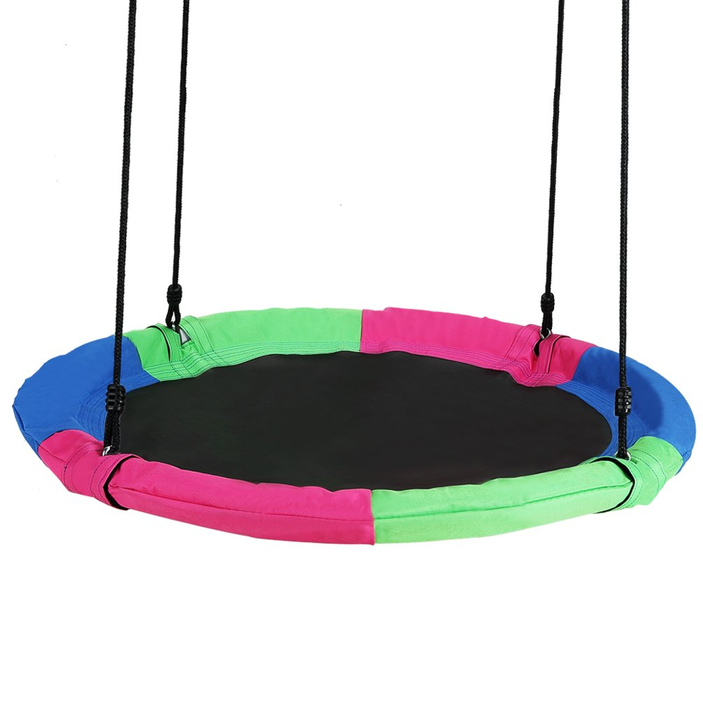 Springcoo Tree Swing  40'' Diameter Very Large Swing for Multiple Kids Play Height Adjustable