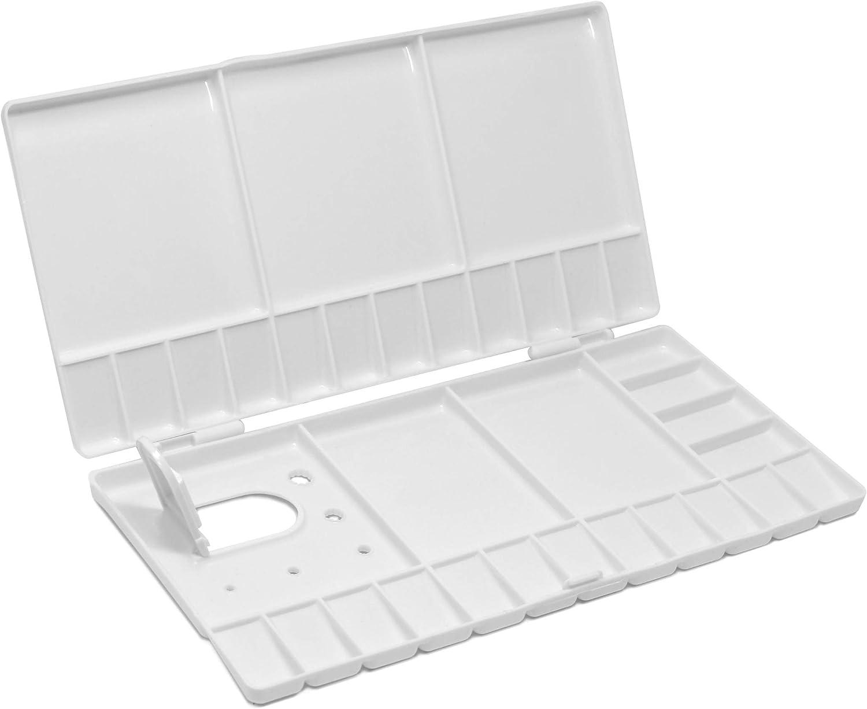 Workhorse Artist/'s Portable Large White Watercolor Paint Palette Case