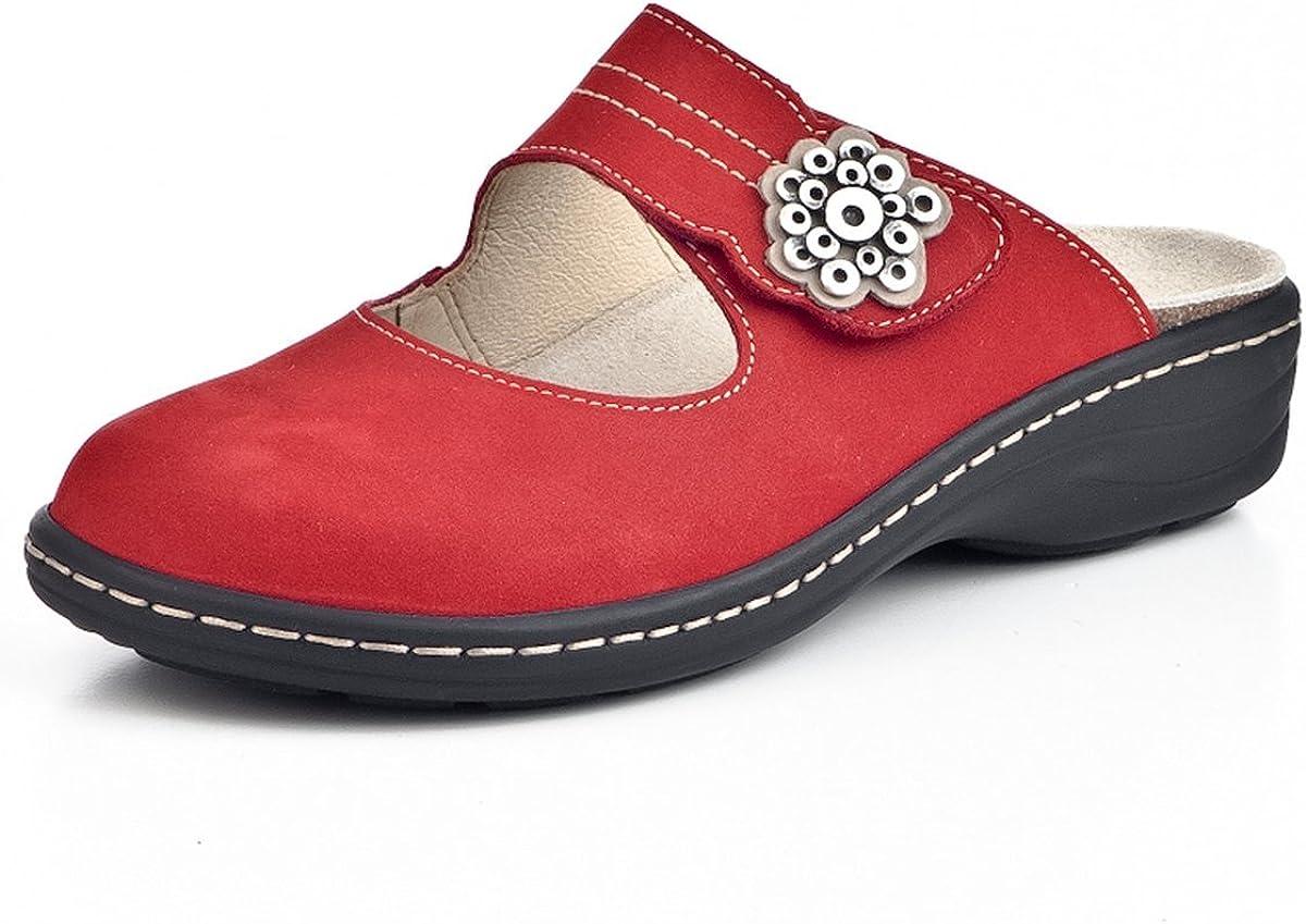 Brinkmann Damen-Pantolette Rot 4 Dr