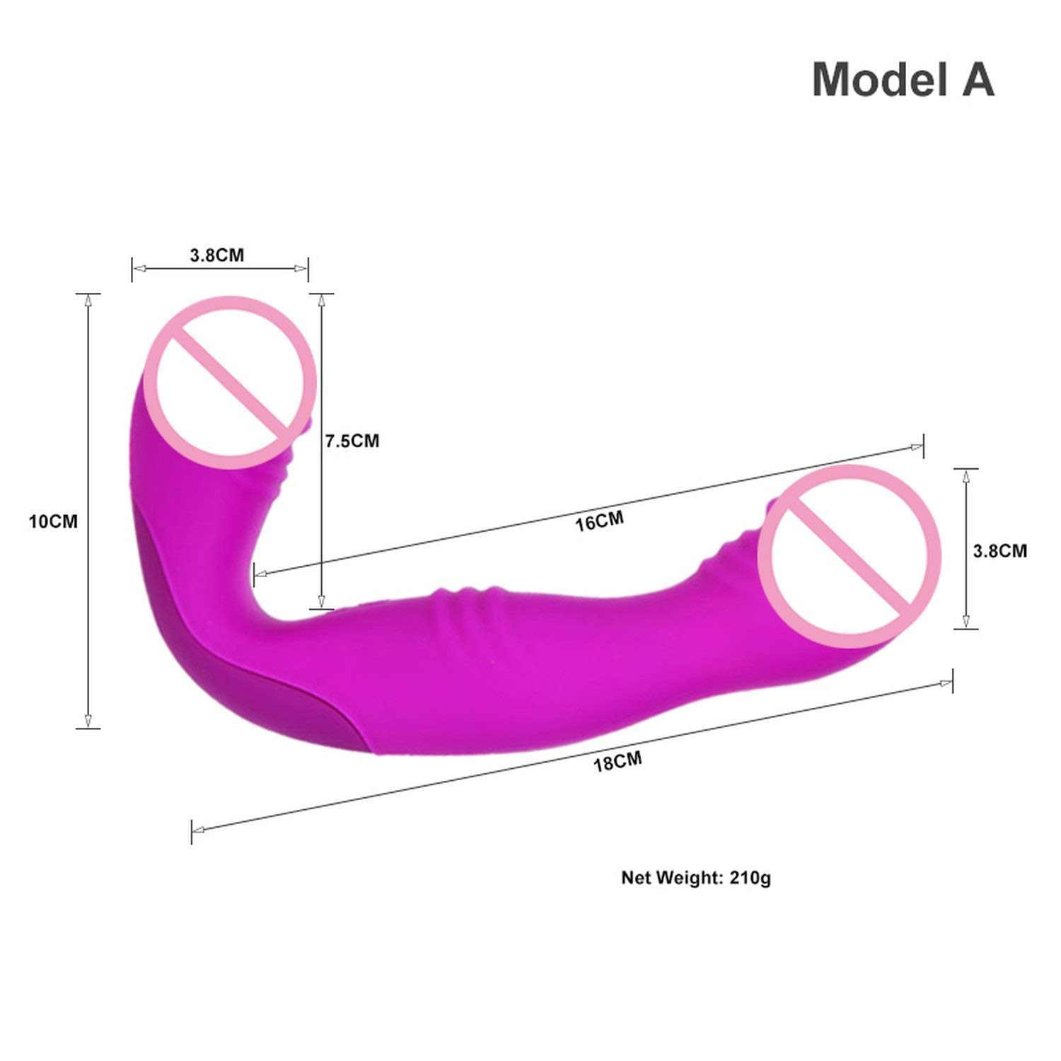 DKFH Shirts New 30 Modes Vibarators Strapless Strapon Rechargeable Lesbian Strap On Double Ended Penǐs sexae Toys for Woman,Model A KDE by DKFH