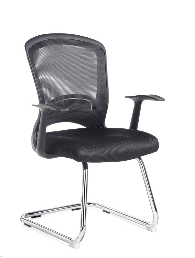 Solaris Mesh Visitors Chair - Length: 600 MM; Width: 690 MM; Height: 950 MM; Color: Black Office 247