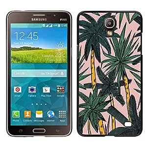 EJOY---Cubierta de la caja de protección para la piel dura ** Samsung Galaxy Mega 2 ** --Palmera Miami Acuarela Tropical Palms