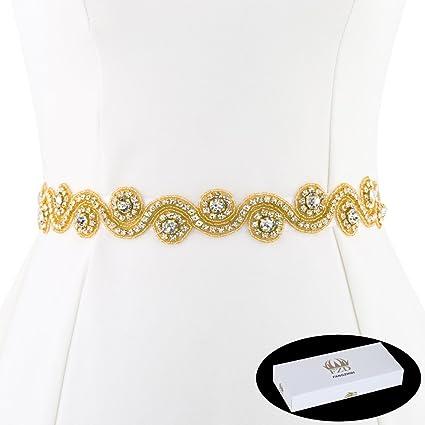 Amazon.com  FANGZHIDI Bridal Applique Belt for Dress 84e8e066b62d