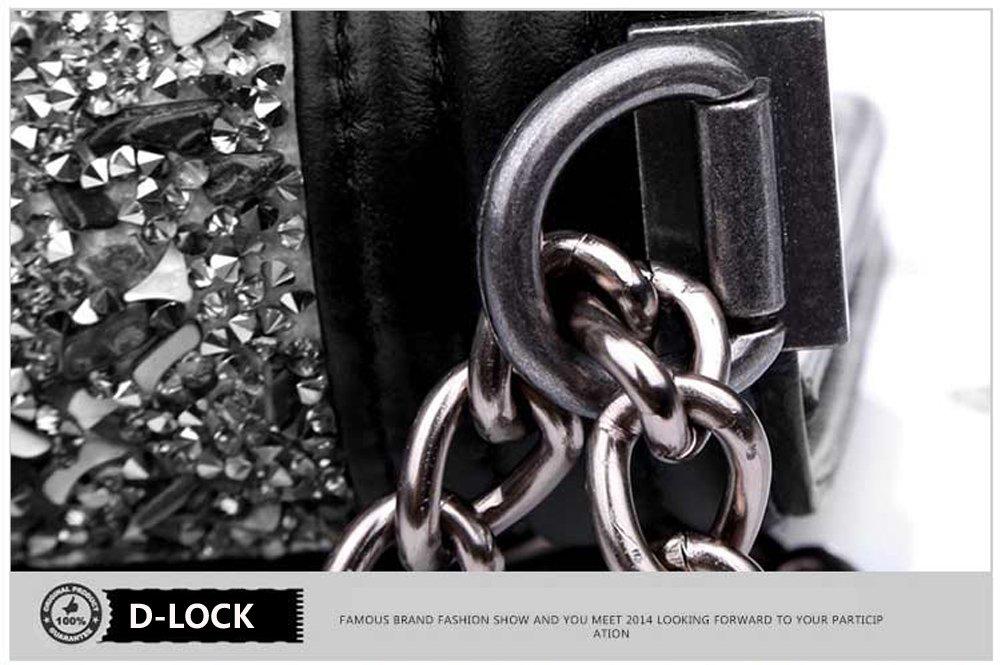 Macton - Bolso cruzados de cuero para mujer Negro negro Small: Amazon.es: Equipaje