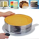 Layer Cake Slicing. Adjustable Cake Ring 9.8-12.2 inches. 1 Cake Ring Mold