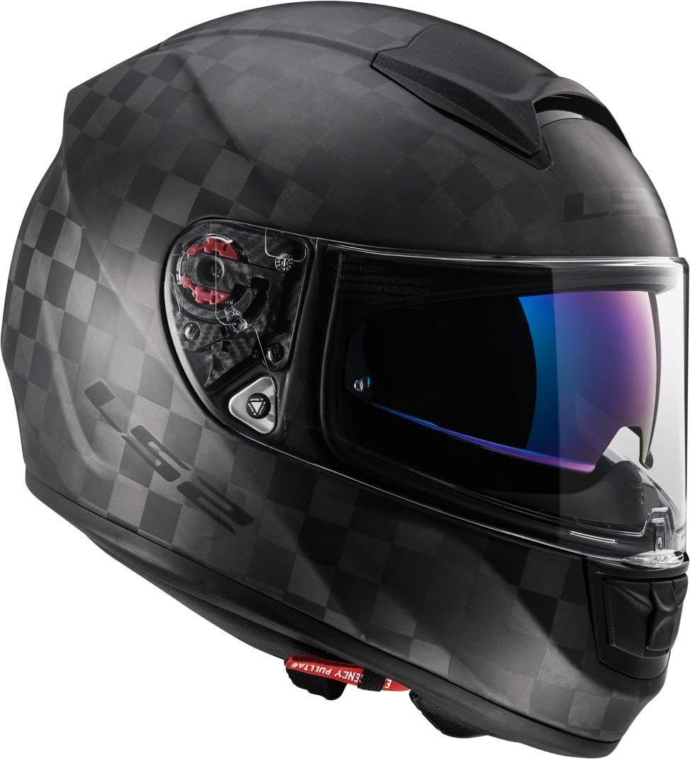Caschi Moto FF397 Vector CT2 Single Mono Matt Carbon LS2