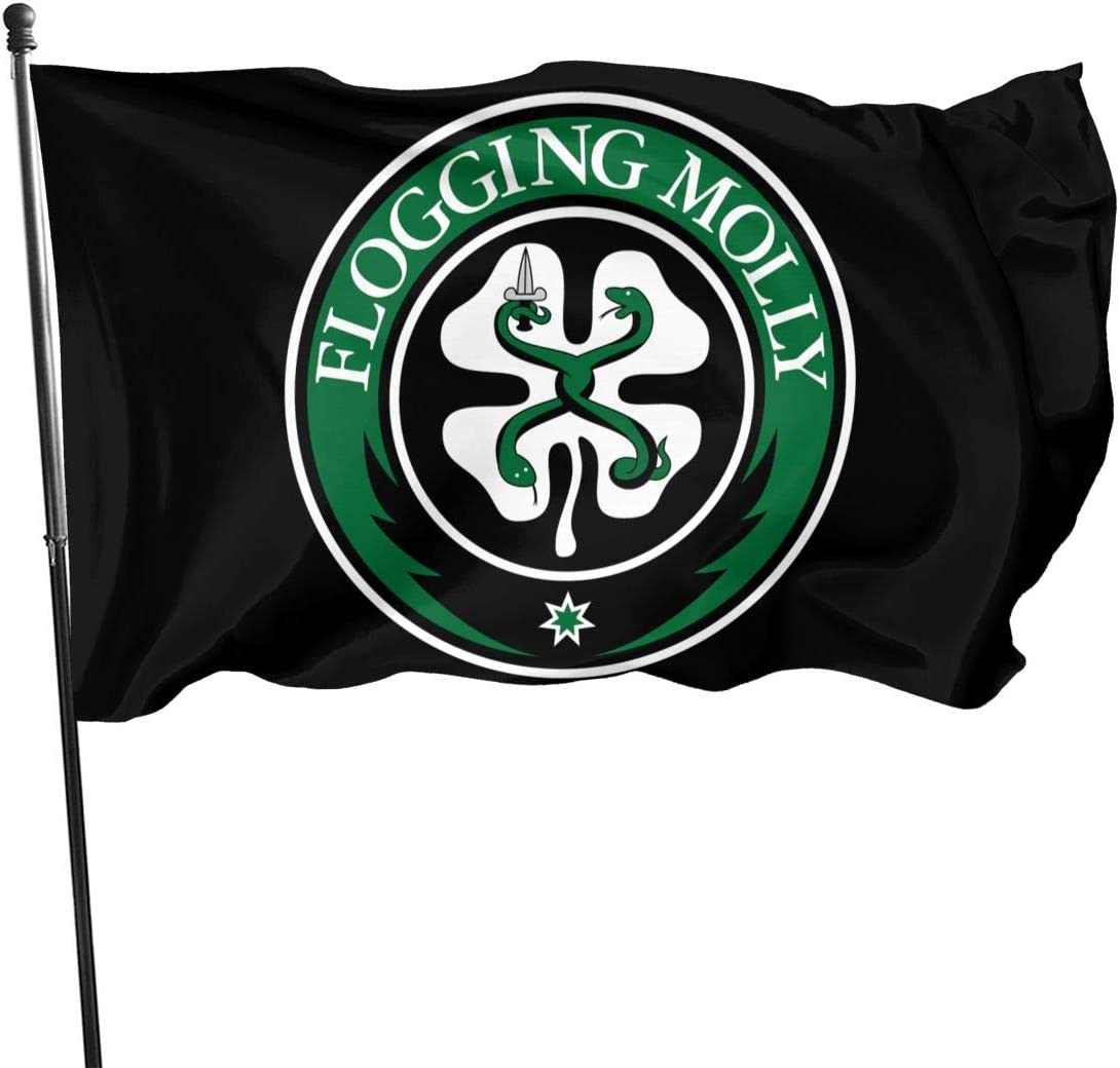 HazelTDahl Flogging Molly Garden Flag Home Decorative Flag Yard Banner House Party Flag Indoor Outdoor 3 X 5 Ft