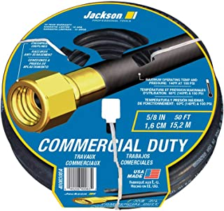 product image for Jackson 4008300A Rubber Commercial Duty Hose, 5/8-Inch x 50-Foot