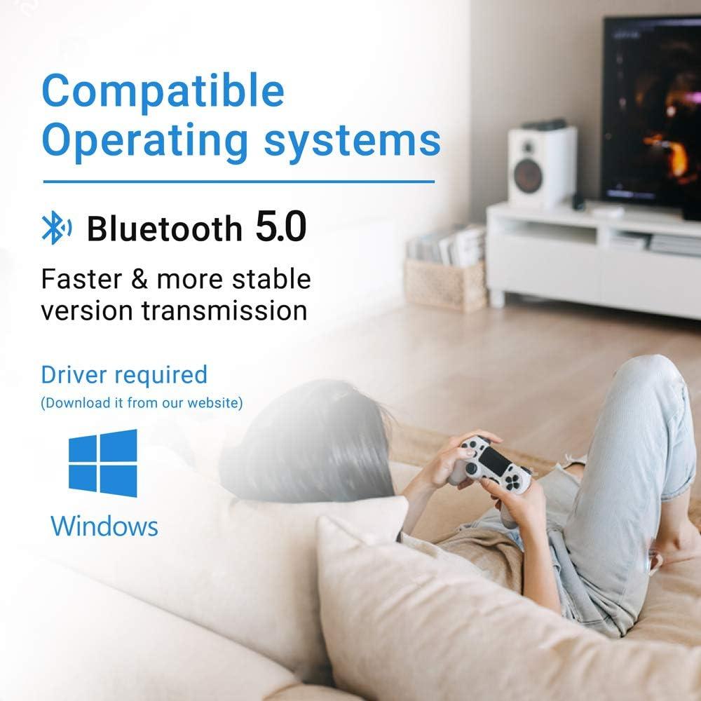 Speaker Mouse Bluetooth 5.0 Adapter for Windows 10//8//7//XP for Desktop Bluetooth Adapter for PC Bluetooth 5.0 Dongle Headset Laptop Keyboard