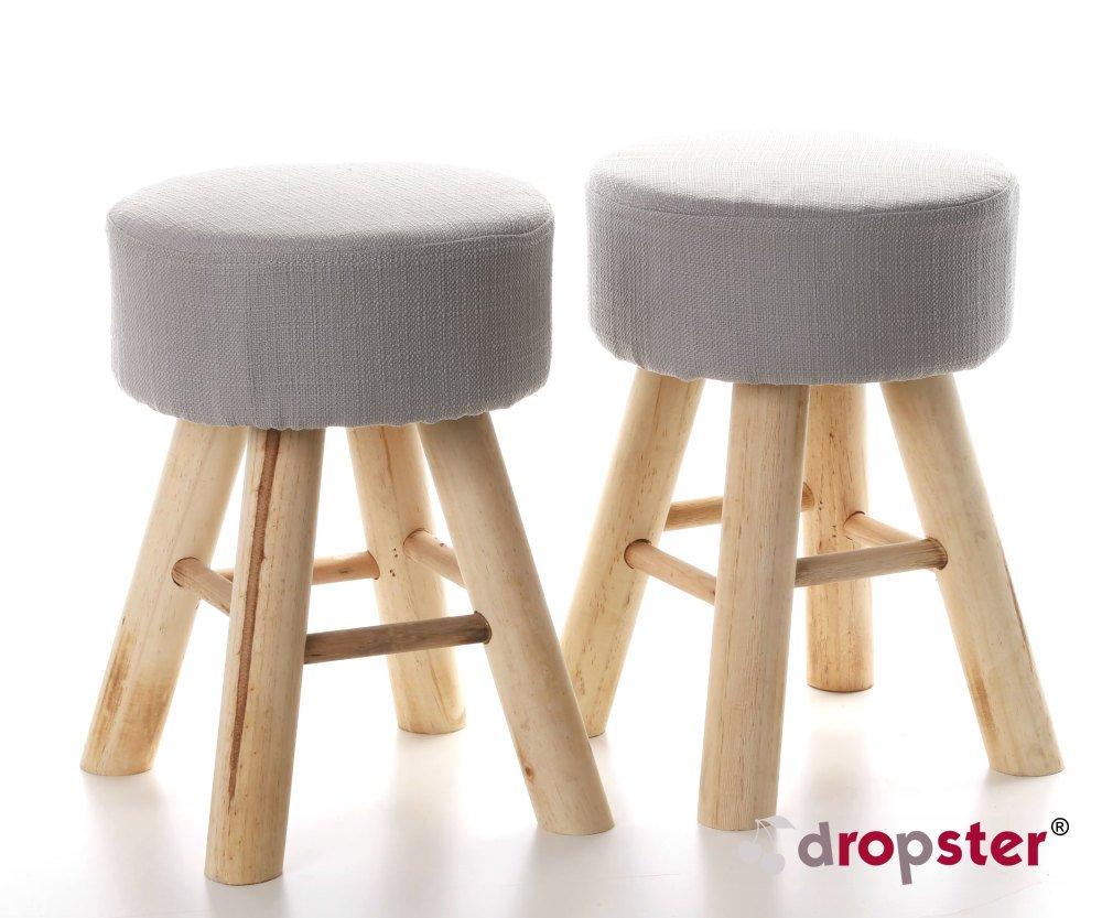 2X ARTI CASA Design-Hocker grau