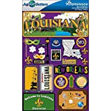 Reminisce Jet Setters Dimensional Stickers-Louisiana