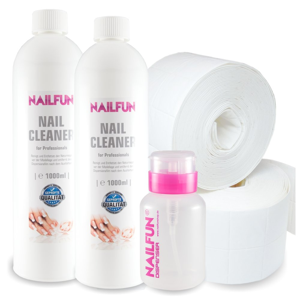 Nail Cleaner 2 Liter = 2000ml + 1000 Zelletten (2 Rollen) + 1 Pumpflasche / Dispenser 150 ml product image