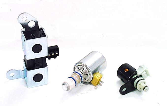 4R70W AODE Transmission Solenoid Set Filter Dual Shift Solenoid Kit EPC TCC Lock-Up Shift Compatible with FordFord 1998-2003