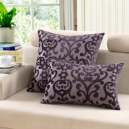 ve Modal Jacquard Euro Square Throw Pillow Cover Case Pillowcase Cushion Sham - 26