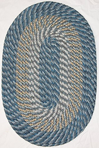 Oval Blue Midnight Rug (Plymouth Braided Rug in Colonial Royal Blue (5' x 8' (60