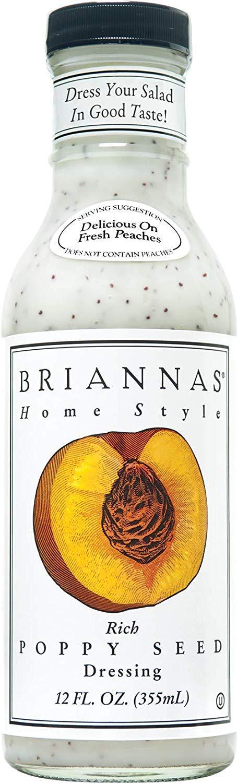 Briannas Home Style Dressings Rich Poppy Seed - 12 fl oz