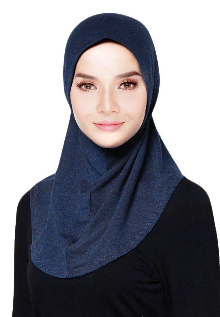 Hana's Womens 1 piece Instant Solid Hijab Scarf One Size (One Size, Ink)