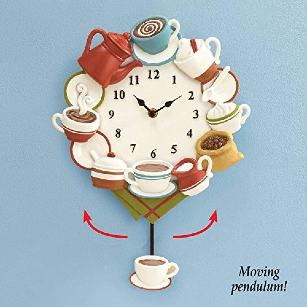 Moka-tasse de café-D = 28cm-vintage shabby H Horloge murale