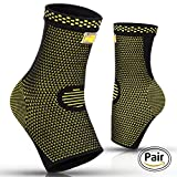 PURE SUPPORT Ankle Brace Sleeves with Graduated Compression – Comfortable Fit & Highly Breathable – Effective Pain Relief from Heel Spurs & Plantar Fasciitis - One Pair Socks