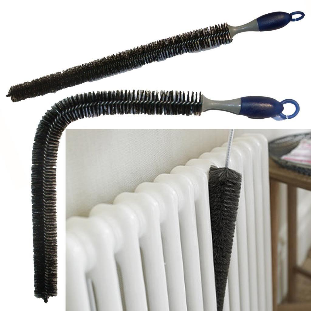 Flexible Hard Ultra Long Bristle Radiator Dusting Brush 70cm