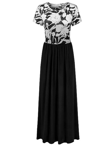 ea59205ea3 Elemevol Womens Maxi Dress Floral Print Casual Long Dress Under 20 ...