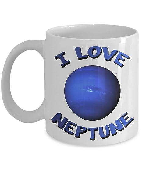 Amazon.com: I Love Neptune taza de café: creativo bebida ...