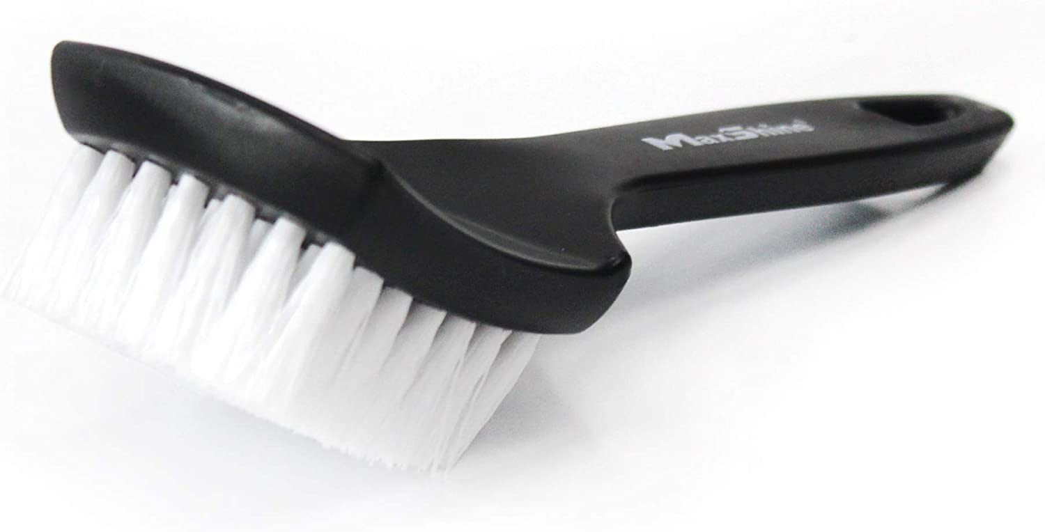 Maxshine All Purpose Long Handled Stiff Bristle Brush, Perfect for Tire & Carpet, Home/Office Cleaning: Automotive