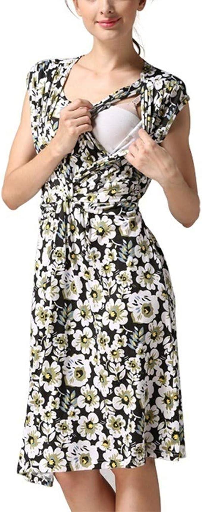 PinkLu premamá Cómodo Casual Mujer Embarazada Sin Mangas ...