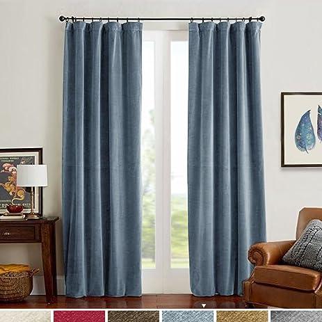 Half Blackout Velvet Curtains For Bedroom Thermal Insulated Rod Pocket1 Panel 52