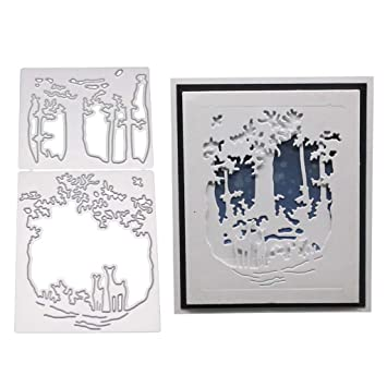 Birdcage to die for Embossing Folder template Fall Trees w Folders ..