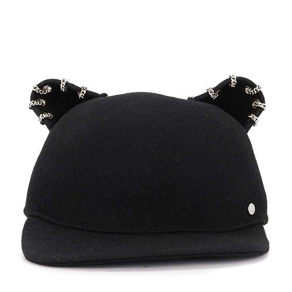 87fcec4f56a Karl Lagerfeld Women s Karl Lagerfeld Choupette Black Wool Hat With ...