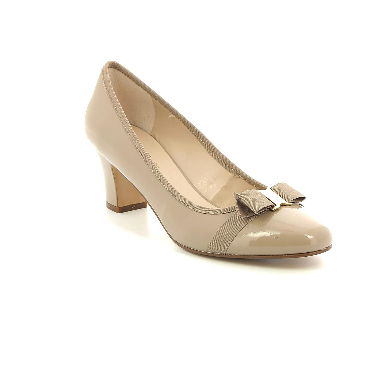 TALLA 37 EU. Estradà by Scarpe&Scarpe - Zapatos de Salón con Moño, de Piel