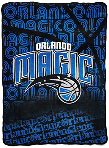"The Northwest Company Officially Licensed NBA Orlando Magic Redux Micro Raschel Throw Blanket, 46"" x 60"""