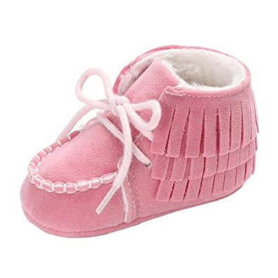c202fe532 Bovake Baby Boots Toddler Newborn Soft Sole Anti-Skid Pram Booties ...