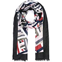 Intrigue Womens/Ladies Border Abstract Shape Print Scarf
