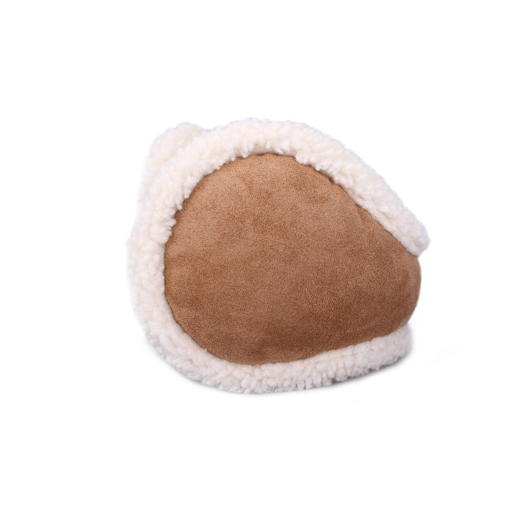 Earmuffs Ear Warmers Soft Thick Comfortable Cold Protection Foldable Camel-women Harulucky