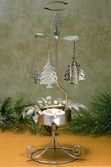 Amazoncom Christmas Tree Candle Holder Spinning Candle with