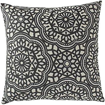 stone beam striated velvet linen look pillow 17 x 17 charcoal home kitchen. Black Bedroom Furniture Sets. Home Design Ideas