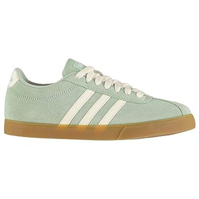 online store 8c25c 2c0dd adidas Damen Courtset Tennisschuhe Grün Clowhi Ashgrn, 36 EU