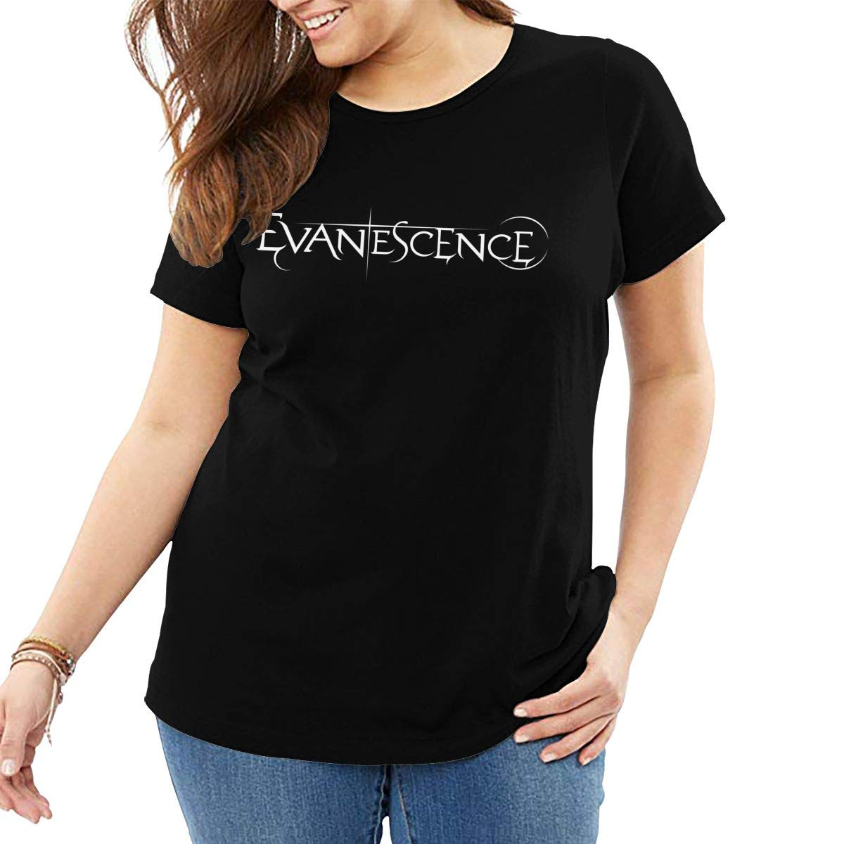 Evanescence Summer Classic Big Short Sleeve Black Shirts