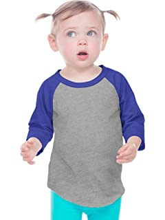 25eb21504 Amazon.com: American Apparel Infant Poly-Cotton 3/4 Sleeve Raglan ...