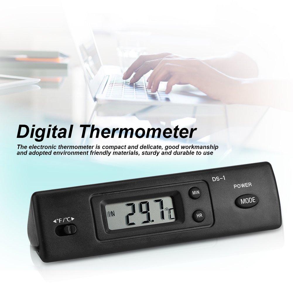 Termometro digitale LCD digitale con sensore sonda con grande display LCD cablato per frigorifero