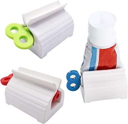 Rolling Tube Toothpaste Squeezer Toothpaste Seat Holder Stand Rotate 2020