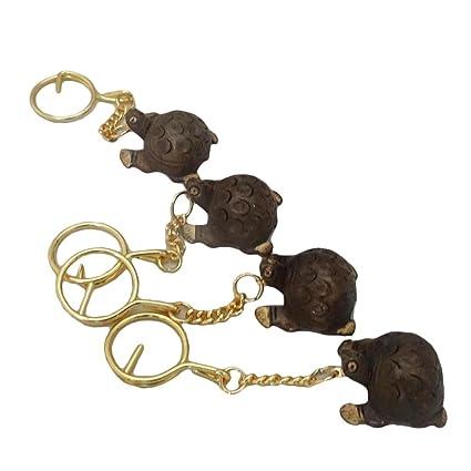 madera artesanal pequeño anillo llavero tortuga ofrecido ...